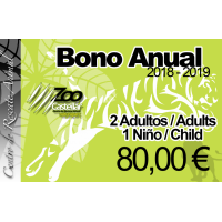 Bono Anual Familiar 2 adultos 1 niño.